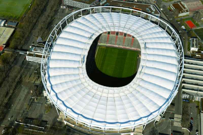 Sports facility grounds of the Arena stadium Mercedes-Benz Arena in Stuttgart in the state Baden-Wurttemberg, Germany