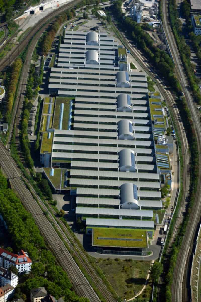 Buildings and production halls on the vehicle construction site ' Mercedes-Benz Motorenwerk ' in the district Cannstatt in Stuttgart in the state Baden-Wuerttemberg, Germany