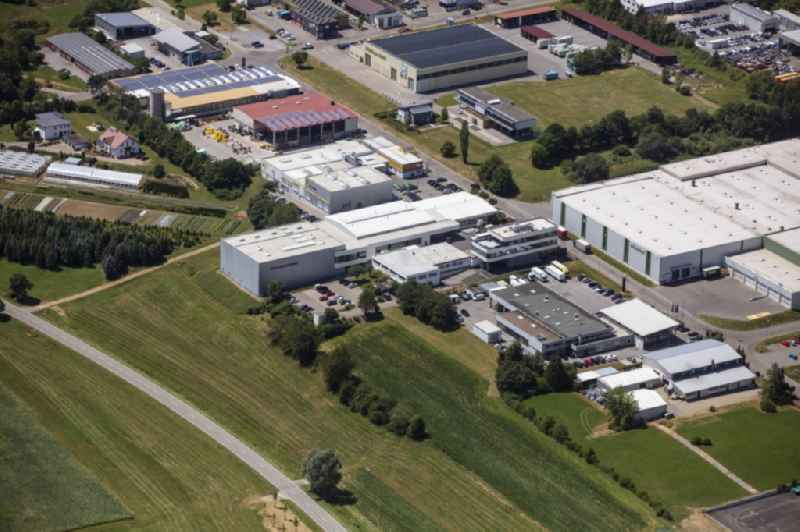 Building and grounds of the company 'Edelstahlservice Sulz GmbH' in the commercial area in Sulz am Neckar in the state Baden-Wurttemberg, Germany