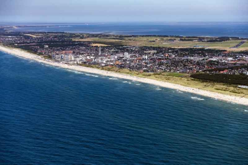 City area with outside districts and inner city area in Sylt in the state Schleswig-Holstein, Germany