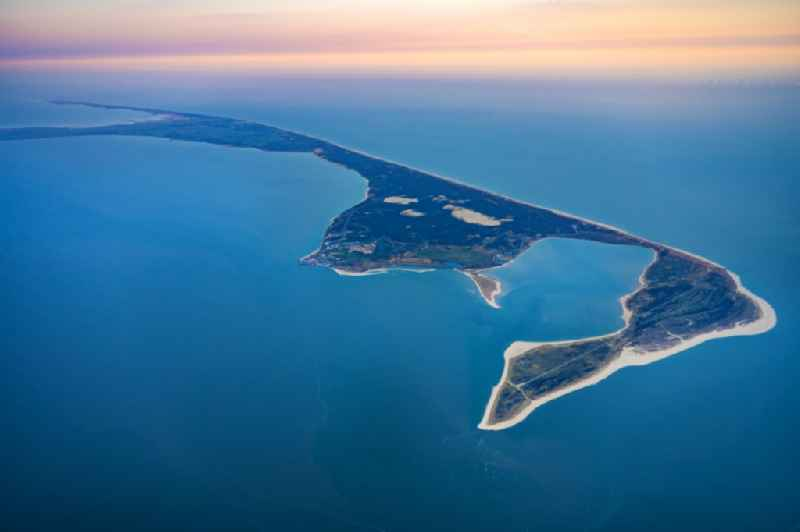 Coastal area in List on the North Frisian North Sea island of Sylt in sunrise in the state Schleswig-Holstein, Germany