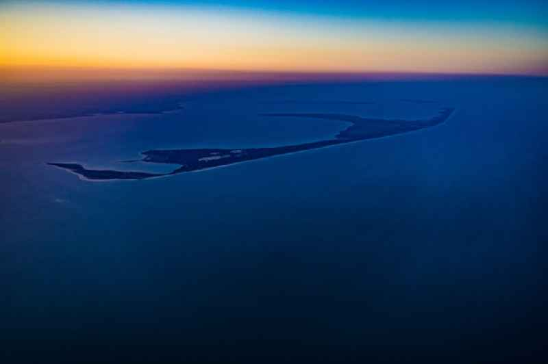 Coastal area of a??a??the North Frisian North Sea island Sylt in sunrise in the state Schleswig-Holstein, Germany