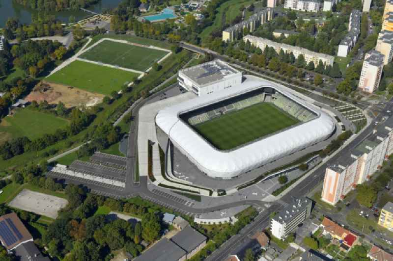 Sports facility grounds of the Arena stadium ' Haladas Sportkomplexum ' on Rohonci A?t in Szombathely in Vas, Hungary