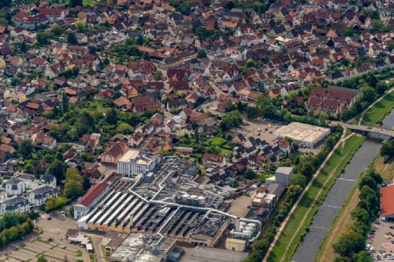 Industrial and commercial area in Teningen in the state Baden-Wuerttemberg, Germany