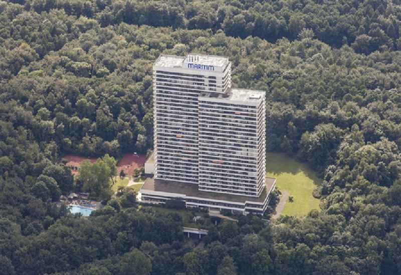 High rise building of a hotel arrangement in Timmendorfer beach in the federal state Schleswig-Holstein