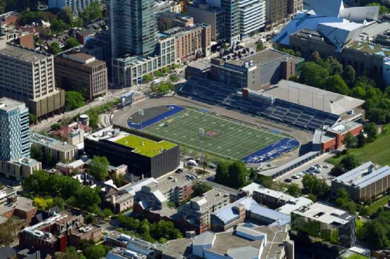 Sports facility grounds of stadium ' Varsity Centre ' on Bloor Street in Toronto in Ontario, Canada