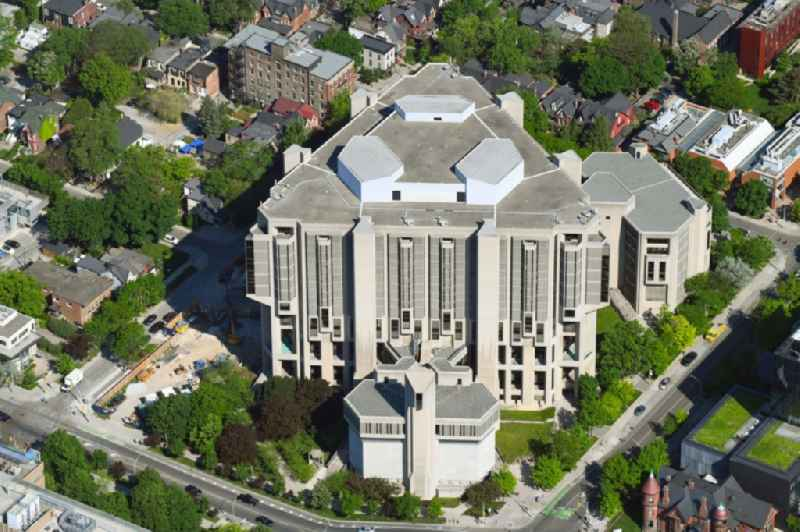 Library Building of ' John P. Robarts Research Library ' on St George Street in Toronto in Ontario, Canada