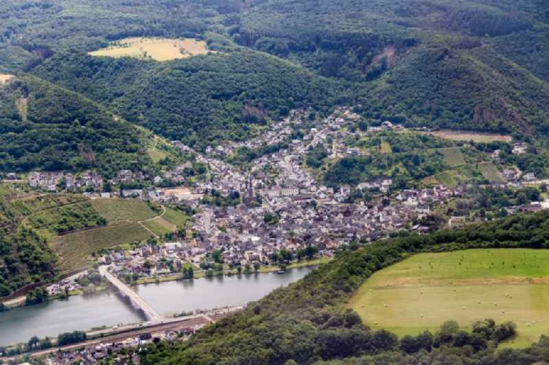 Town View of the streets and houses of the residential areas in Treis-Karden in the state Rhineland-Palatinate, Germany