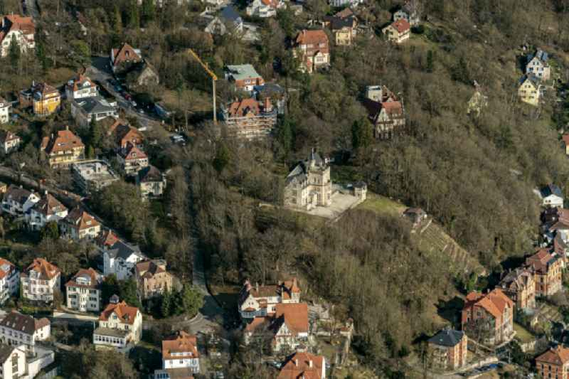 Luxury villa in residential area of single-family settlement in Tuebingen in the state Baden-Wurttemberg, Germany.