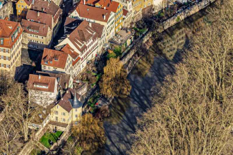 Old Town area and city center Hoelderlinturm in Tuebingen in the state Baden-Wurttemberg, Germany.