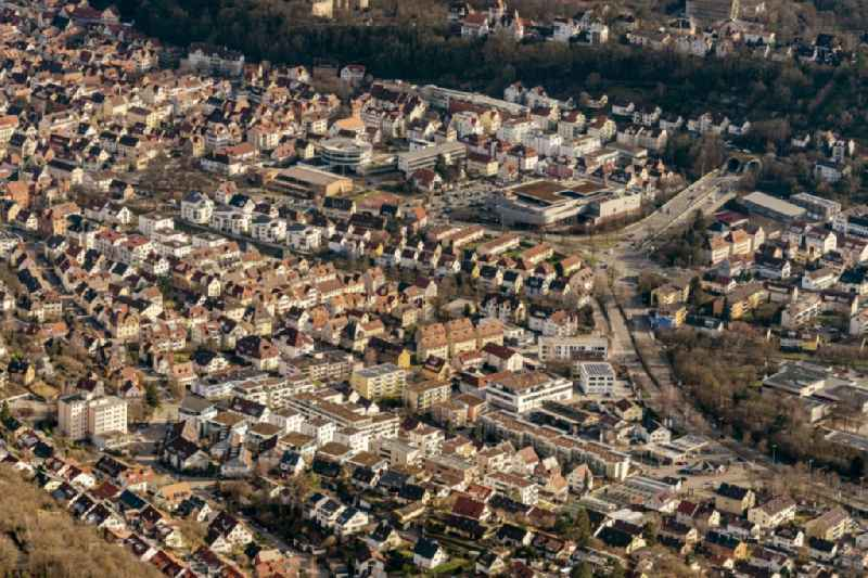 Outskirts residential on B296 in Tuebingen in the state Baden-Wurttemberg, Germany.