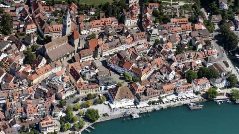Village on the banks of the area Lake Constance in Ueberlingen in the state Baden-Wuerttemberg, Germany