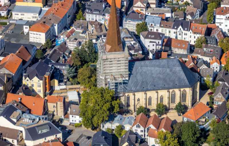 Renovation work on the church building 'Evangelische Stadtkirche' in Unna in the federal state of North Rhine-Westphalia, Germany