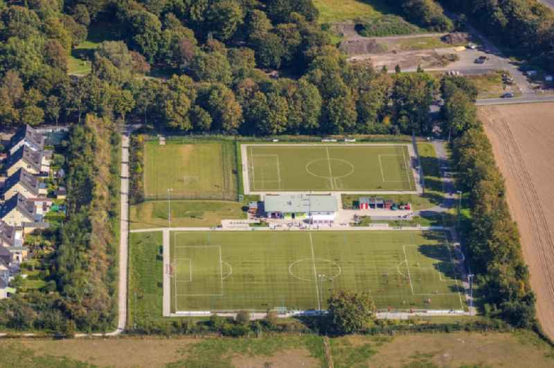 Ensemble of sports grounds 'Sportheim Unna' Am Suedfriedhof in Unna in the state North Rhine-Westphalia, Germany