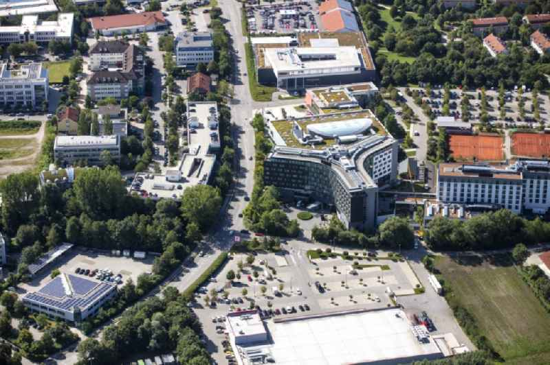 Complex of the hotel building ' INFINITY Hotel & Conference Resort Munich ' in Lohhof in the state Bavaria, Germany