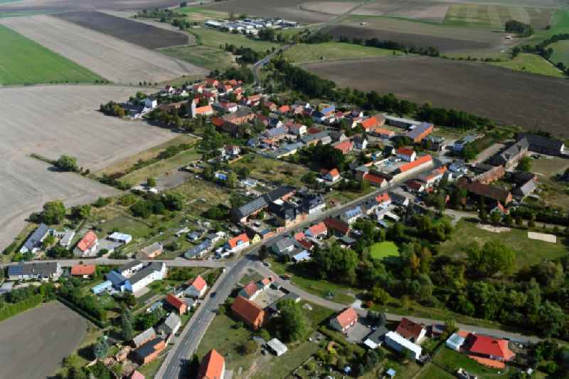 Village view in Vehlitz in the state Saxony-Anhalt, Germany
