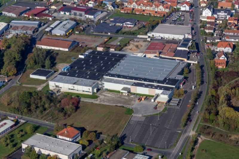 Industrial estate and company settlement Am Seelein with Bosch Rexroth AG in Volkach in the state Bavaria, Germany