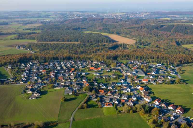 Town View of the streets and houses of the residential areas in Vosswinkel in the state North Rhine-Westphalia, Germany