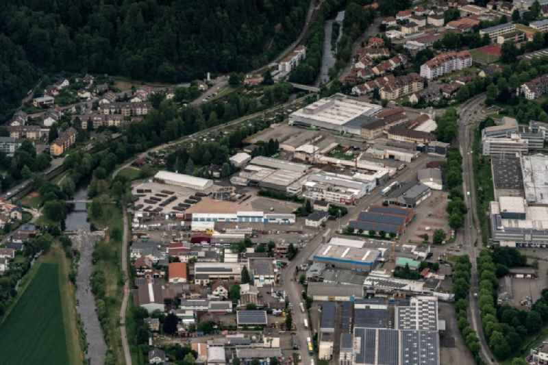 Industrial estate and company settlement Mack Rides in Waldkirch in the state Baden-Wurttemberg, Germany
