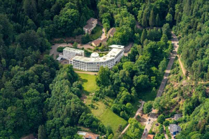 Hospital grounds of the rehabilitation center DH-Klinik Waldkirch gGmbH in Waldkirch in the state Baden-Wuerttemberg, Germany
