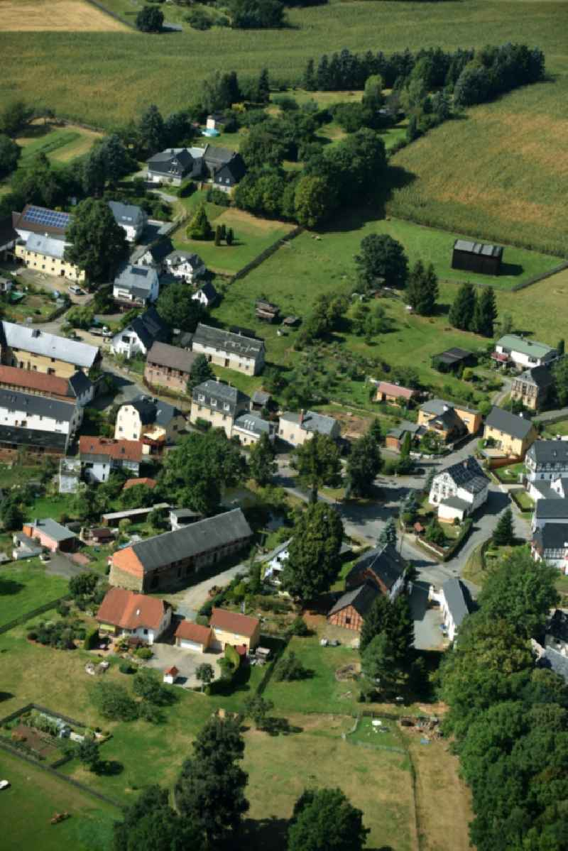 Village view of Waltersdorf in the state Thuringia