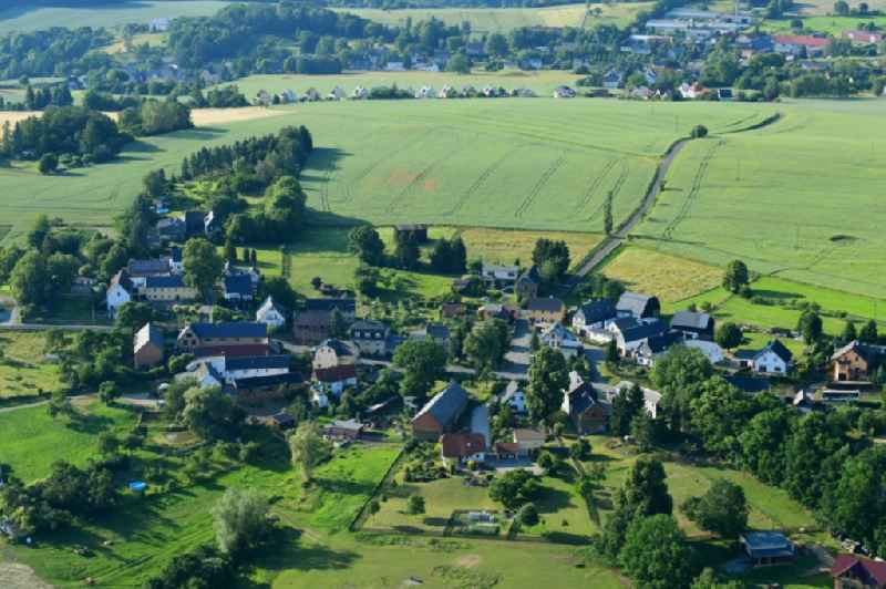 Village view in Waltersdorf in the state Thuringia, Germany