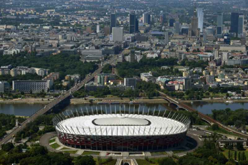 The new built stadium National Stadium in Warsaw bevore opening EM 2012 in Poland.
