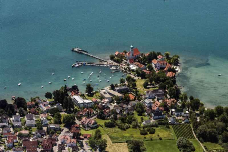 Village on the banks of the area Lake Constance in Wasserburg (Bodensee) in the state Bavaria, Germany