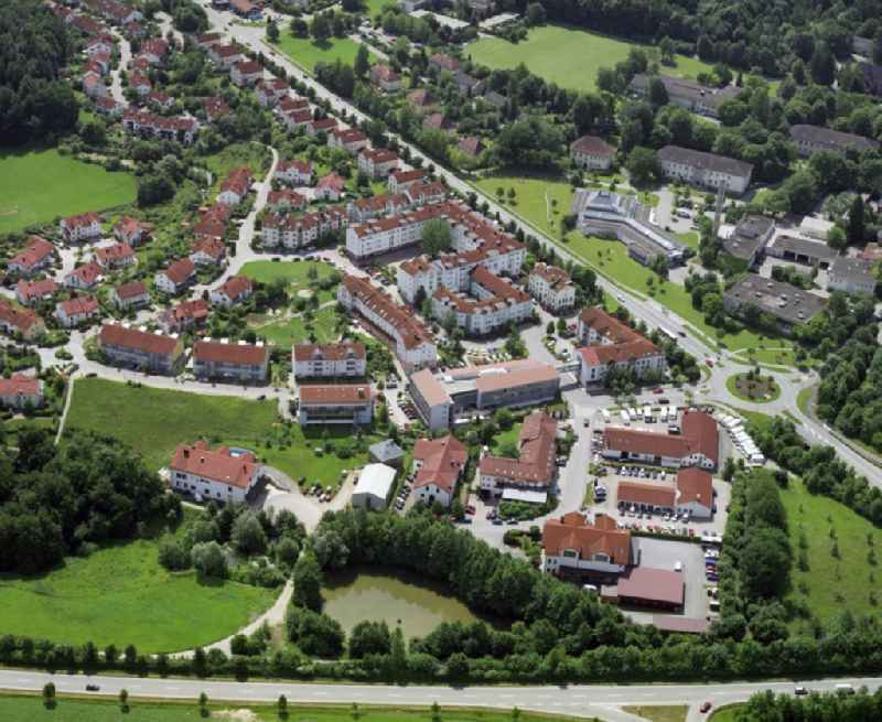 Outskirts residential in Wasserburg am Inn in the state Bavaria, Germany