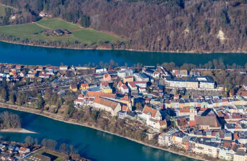 Wasserburg am Inn Old Town- center of downtown in Wasserburg am Inn in the state Bavaria