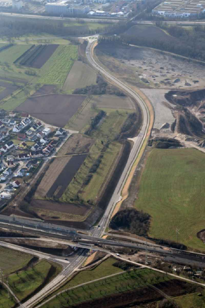 Construction of the bypass road of the northwest detour in the district Haltingen in Weil am Rhein in the state Baden-Wurttemberg, Germany