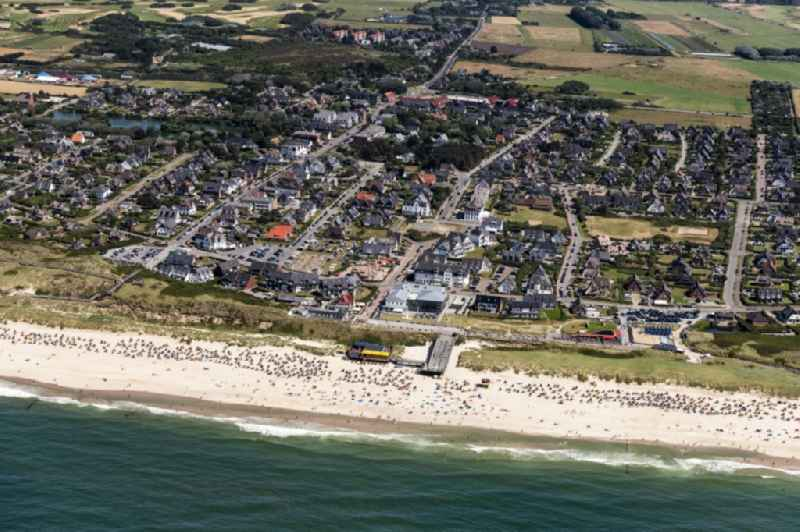 Village on the banks of the area in Wenningstedt-Braderup (Sylt) in the state Schleswig-Holstein, Germany