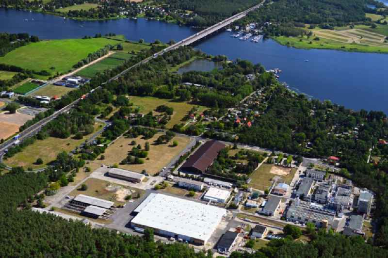 Building and production halls on the premises of Herbstreith & Fox KG in Werder (Havel) in the state Brandenburg, Germany