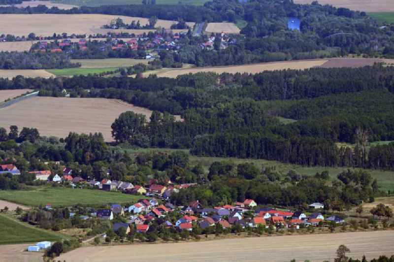 Single-family residential area of settlement in Werder (Havel) in the state Brandenburg, Germany