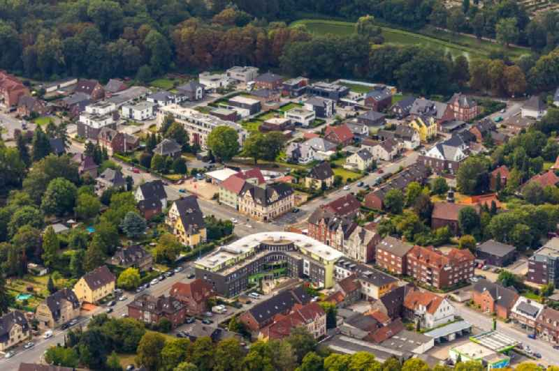 Building of the retirement center at the intersection of the Freiherr-vom-Stein-Strasse and the Kamener Str. overlooking the district in Werne in the state North Rhine-Westphalia, Germany. Further information at: PRO TALIS Holding GmbH.