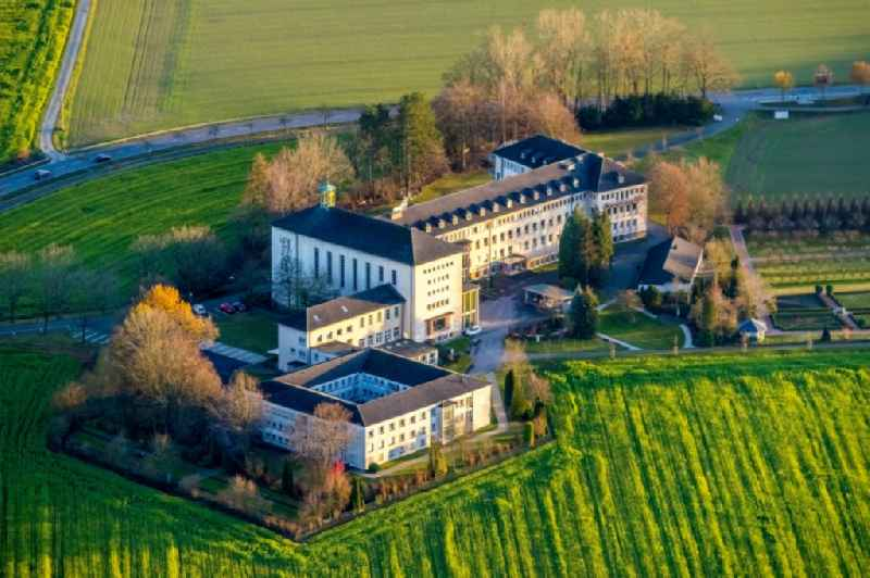 Aerial view of the Holy Spirit Monastery in the district of Wimbern in Wickede (Ruhr) in the German state of North Rhine-Westphalia, Germany