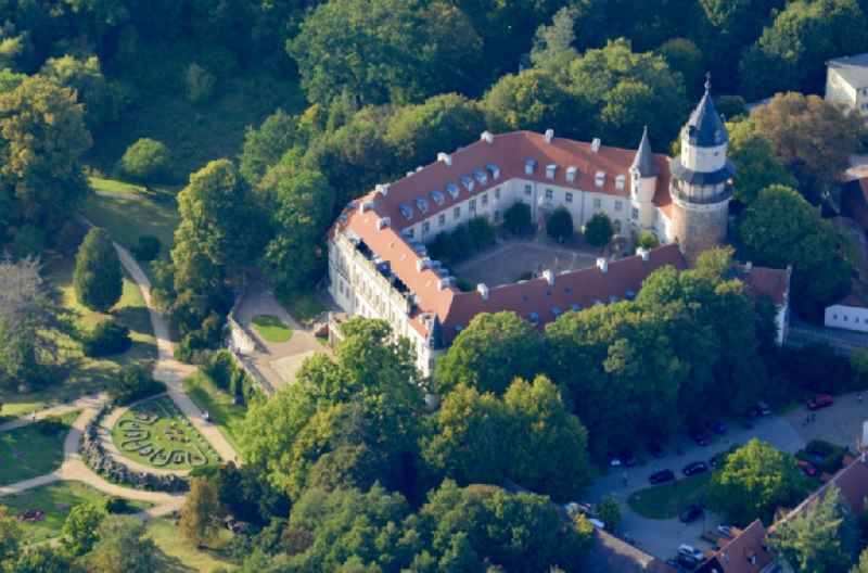 Building complex in the park of the castle in Wiesenburg/Mark in the state Brandenburg, Germany