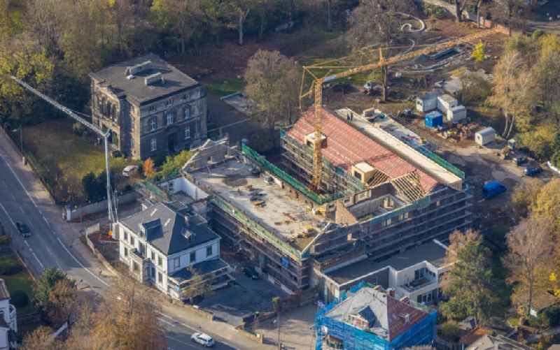 Reconstruction and renovation of the factory site of the old factory to a residential area with city lofts on Ruhrstrasse in Witten in the state North Rhine-Westphalia, Germany