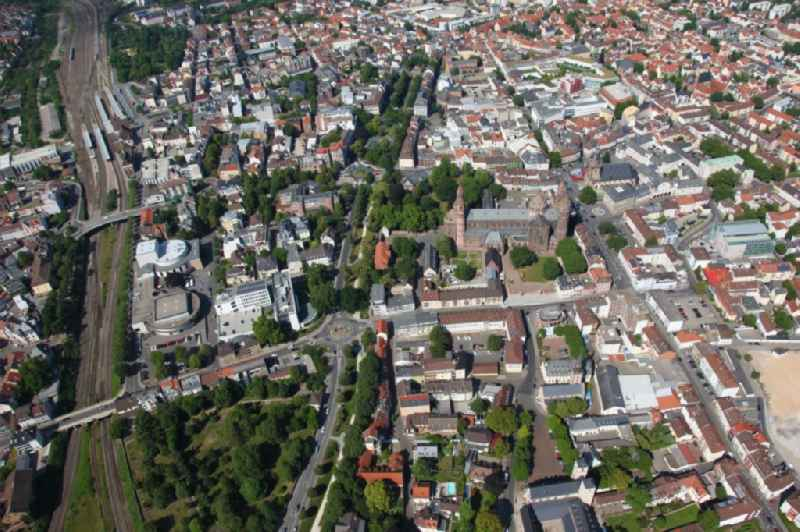 Old Town area and city center in Worms in the state Rhineland-Palatinate, Germany