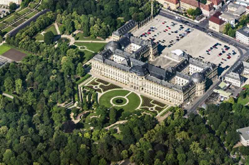 Building complex in the park of the castle Residenz Wuerzburg in Wuerzburg in the state Bavaria.