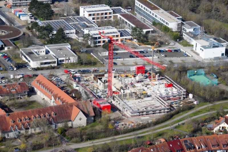 Construction site of a new build retirement home on Berner Strasse in the district Heuchelhof in Wuerzburg in the state Bavaria, Germany