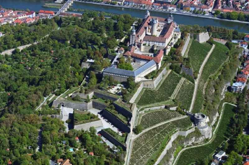 Fortress Festung Marienberg above the Main river in Wuerzburg in the state Bavaria, Germany