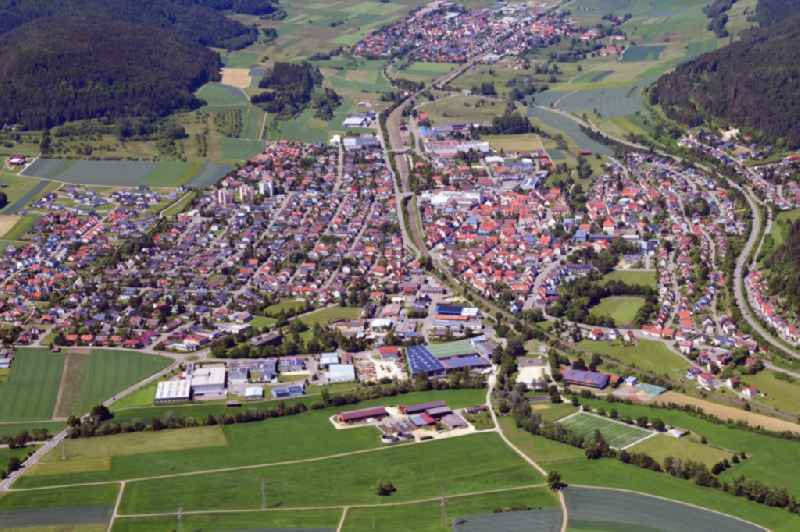 Town View of the streets and houses of the residential areas in Wurmlingen in the state Baden-Wuerttemberg, Germany