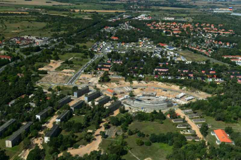 Construction site to build a new multi-family residential complex ' Gold- Gartenstadt Olympisches Dorf von 1936 ' in the district Elstal in Wustermark in the state Brandenburg, Germany