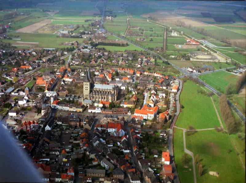 Old Town area and city center in Xanten in the state North Rhine-Westphalia, Germany
