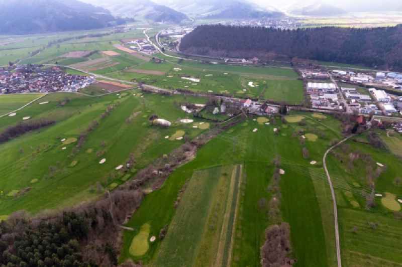Grounds of the Golf course at of Golfclub Groebernhof e.V. in Zell am Harmersbach in the state Baden-Wuerttemberg, Germany
