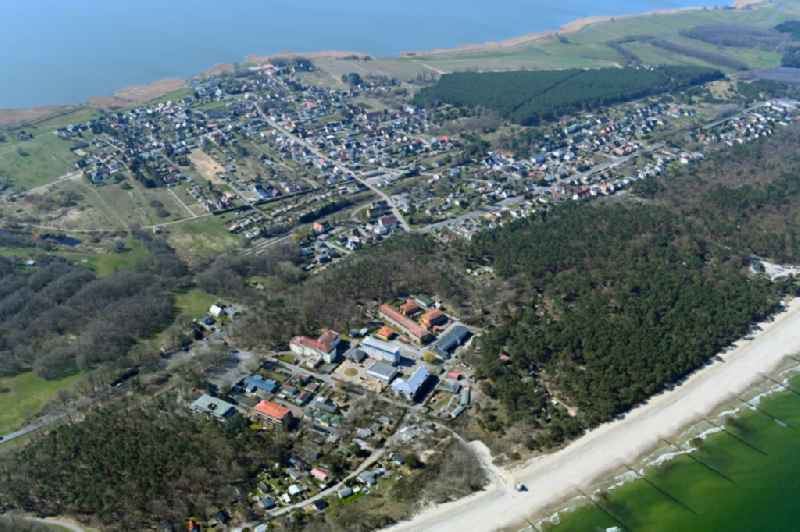 Townscape on the seacoast of Baltic Sea in Zempin in the state Mecklenburg - Western Pomerania, Germany